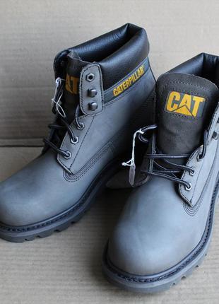 Ботинки caterpillar t3 colorado p723530 gunmetal оригинал  натуральный нубук