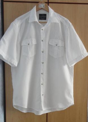 Супер брендовая рубашка  тенниска лен хлопок