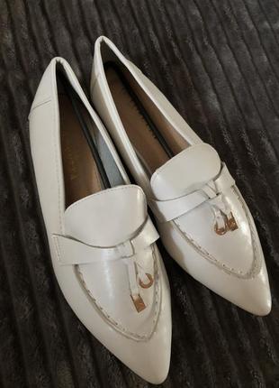 Туфли белые эко кожа
