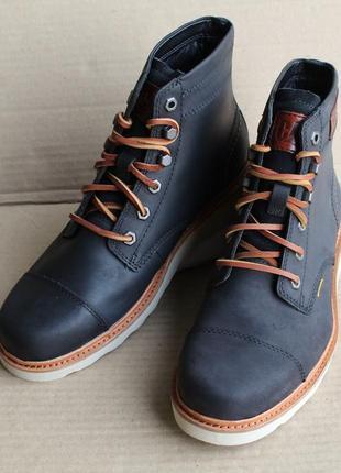 Ботинки caterpillar jackson  p724708 black оригинал натуральный нубук