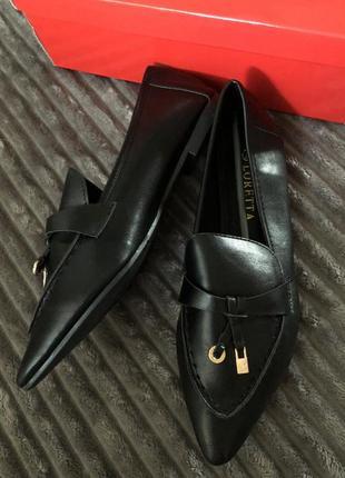Туфли чёрные эко кожа