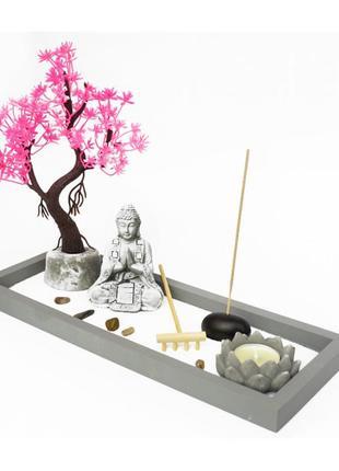 Сувенир дзэн набор сад камней будда