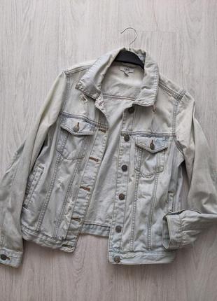 Стильная оверсайз джинсовка джинсовая куртка ovs