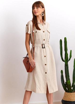 Легкое платье в стиле сафари