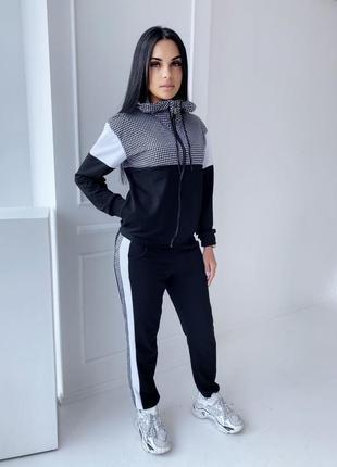 Женский спортивный костюм кофта на змейке штаны с лампасами2 фото