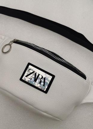 Сумка на пояс женская белая бананка барсетка поясная сумка сумка через плечо