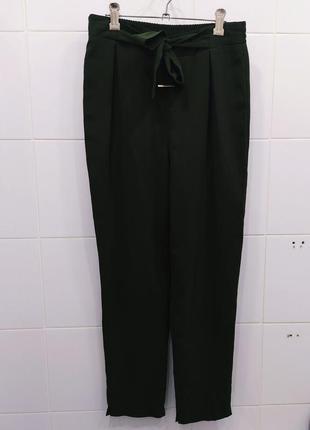 Шикарные шифоновые брюки бананы с бантом