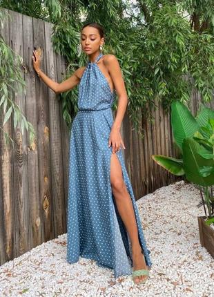 Нарядное летнее платье длинное женское