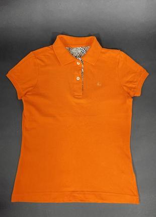 Летняя необычная яркая футболка burberry's london polo майка  женская