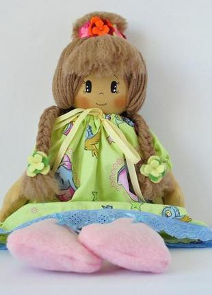 Обаятельная большая мягкая кукла ручной работы для малышки девочки