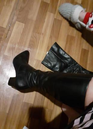 Сапоги фирменные кожаные с германии