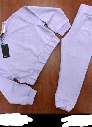 Нові однотонні спортивні штани на резинці знизу на манжетах