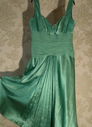 Шелковое платье сказочной красоты и качества! платье на выпускной, новый год...