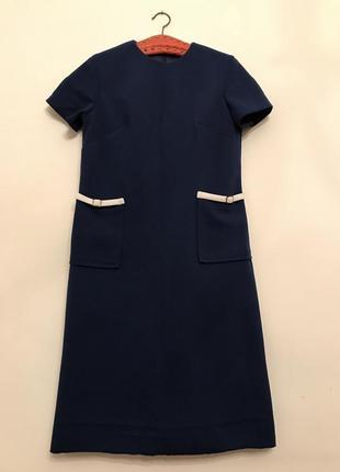 Винтажное платье с накладными карманами