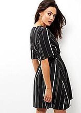 Распродажа!лёгкое платье в полоску с запахом короткий рукав р 10-12 new look2 фото