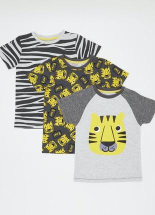 Набор футболочек 3 шт. в уп.dunnes, англия. размеры 2-3 года