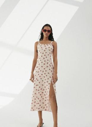 Платье zara лён