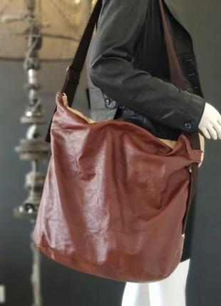 Handmade. большая сумка из натуральной кожи.