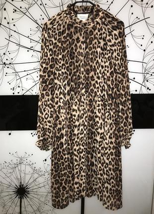 Очень лёгкое и красивое платье second female принт леопард