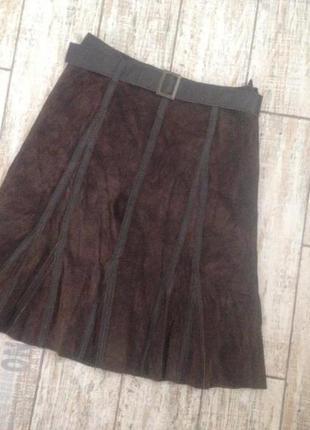 #кожаная юбка promod#юбка годе#юбка клинка#юбка из кожи###