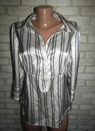 Рубашка в полоску р-р л-14 стрейч yessica