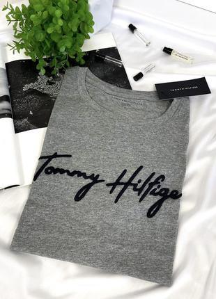 Серая футболка томми хилфигер tommy hilfiger оригинал