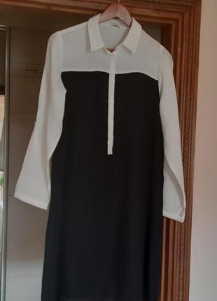 Красивое черно-белое платье