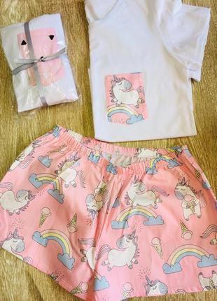 Женская пижама единороги