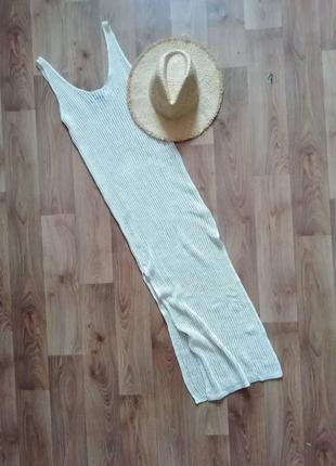 Пляжное платье сетка вязаное в'язана сукня сітка пляжна пляжная туника накидка миди макси в пол