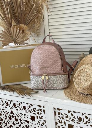 Рюкзак michael kors white/pink