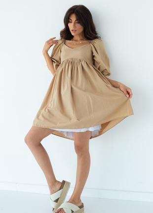 Сукня-міні з завищеною талією вільного крою / платье мини с завышенной талией свободного кроя