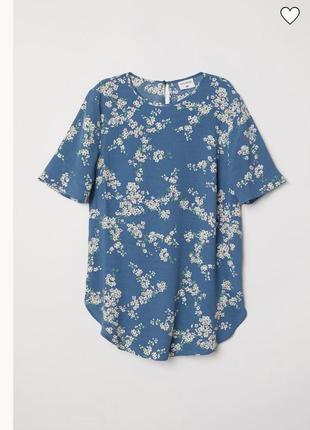 Топ блуза в цветочный принт h&m gp&j baker s