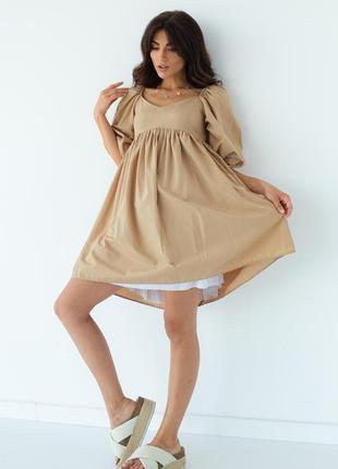 Платье мини свободного кроя