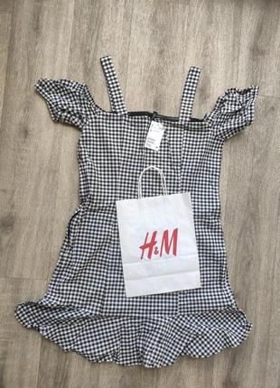 Платье h&m пог 47, пот 44 длина 84, ткань стрейч