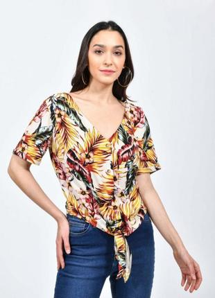 Стильная вискозная блуза в пальмовые листья 🌴🌴🌴✨