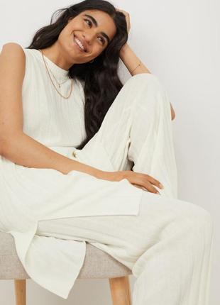 Обалденный легкий костюм,брюки +длинная туника-блуза