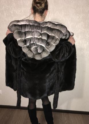 Норковая шуба black nafa греция