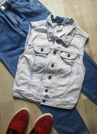Джинсовая жилетка, желетка, безрукавка, джинсовка