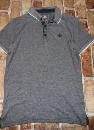 Стильная хлопковая  футболка мальчику  поло 11 - 12 лет rebel