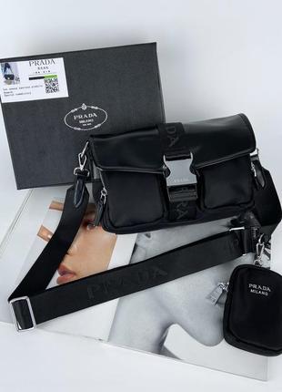 Женская сумка через плечо с текстильным ремешком жіноча сумочка