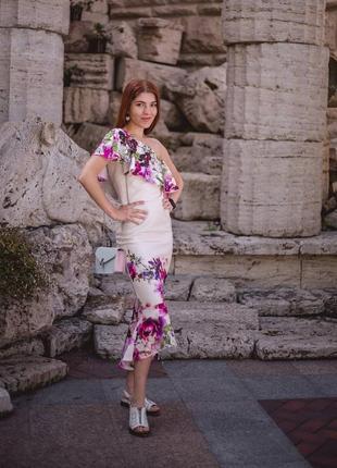 Платье на одно плечо true violet