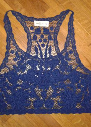 Стильная фирменная ажурная блузочка abercrombie&fitch m-l p.