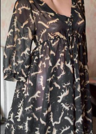 Прозрачное пляжное платье, туника, парео