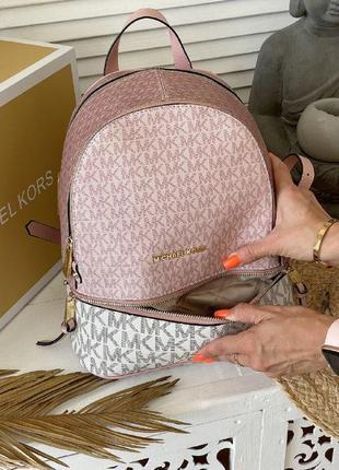 Шикарная женский рюкзак michael kors white pink наложенный платёж