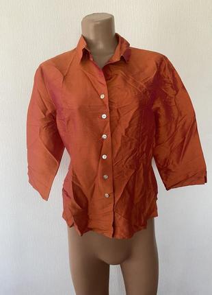 100%шовк/ шелк !! шикарна блуза 🔥🔥🔥