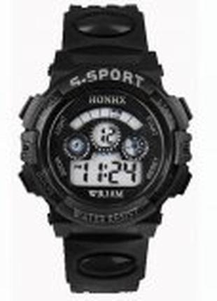 Детские наручные спортивные часы s-sport black honhx
