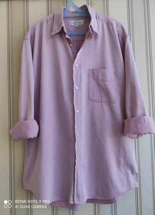 Классная брендовая рубашка батал 100% коттон