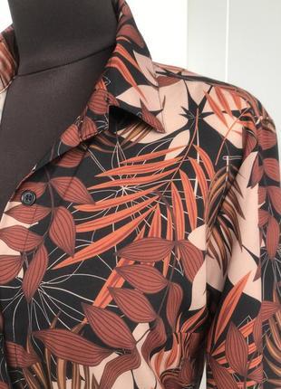 Платье платье-халат в цветочный принт pescara