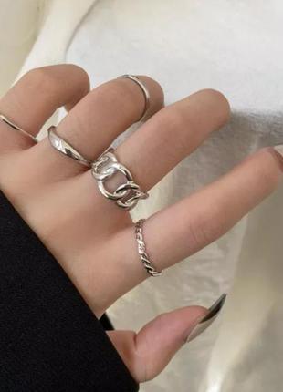 Набор колец 5 шт фаланговые кольца