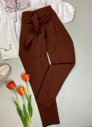 Терракотовые брюки с поясом next